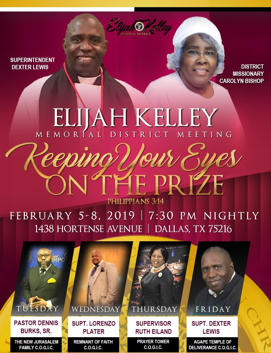 Elijah Kelley Memorial District Meeting