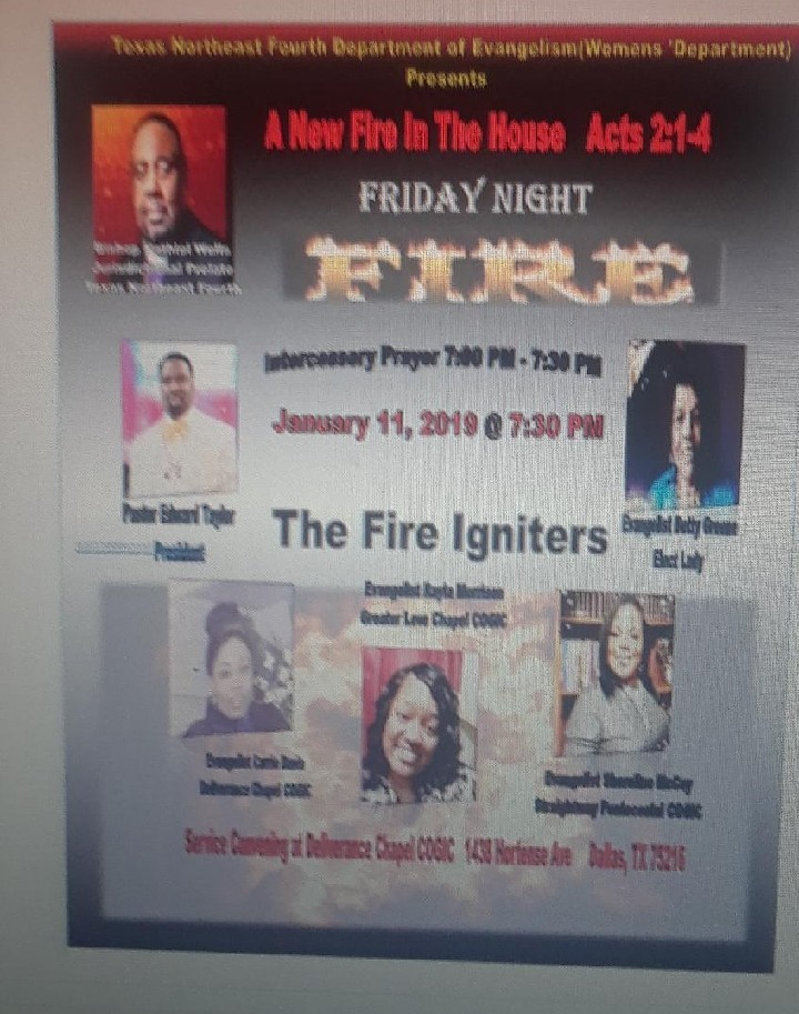 A New Fire in the House (TX Northeast Fourth Dept. of Evangelism)