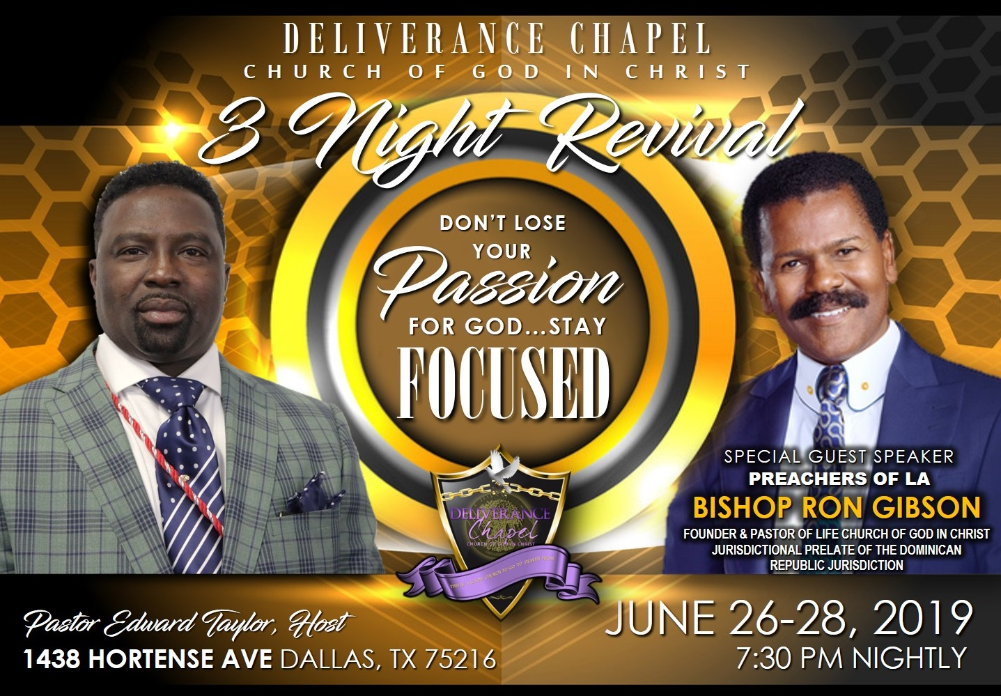 3 Night Revival w/Bishop Ron Gibson