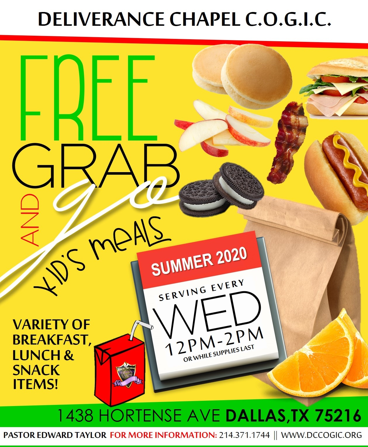 Grab & Go Free Kid's Meals